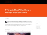5 Things to Check When Hiring a Moving Company in Darwin