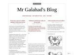 Mr Galahad's Blog