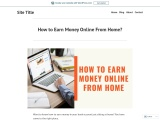 How to Earn Money Online From Home?
