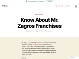 Know About Mr. Zagros Franchises