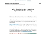Office Cleaning Services Professional Organic Disinfection Cleaning