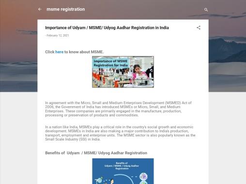 Importance of Udyam / MSME/ Udyog Aadhar Registration in India