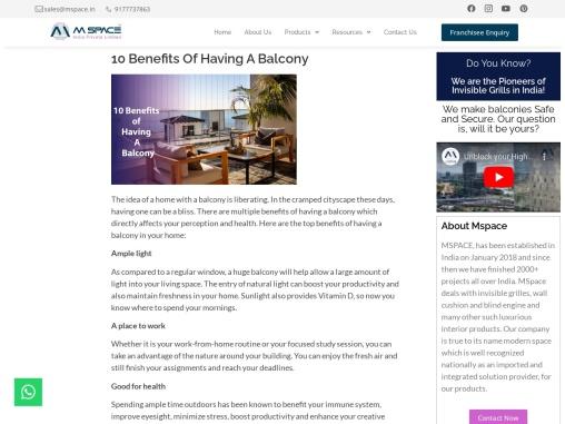 10 Benefits of Having A Balcony