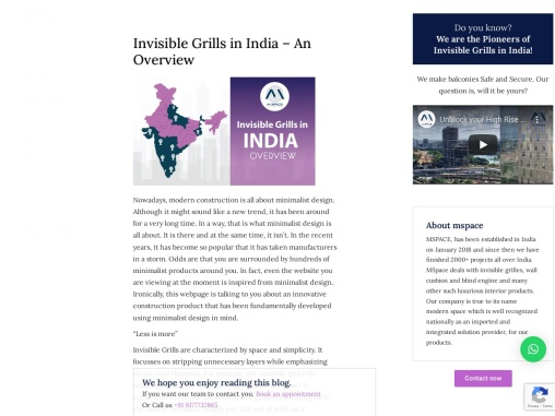 Invisible grills in India – An overview | MSpace