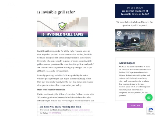 Is Invisible grill safe   mspace.in
