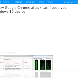 A new Google Chrome attack can freeze your Windows 10 device - MSPoweruser