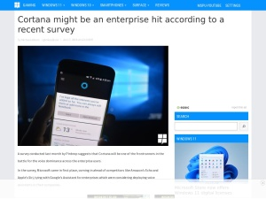 Cortana might be an enterprise hit according to a recent survey - MSPoweruser