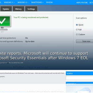 Despite reports, Microsoft will continue to support Microsoft Security Essentials after Windows 7 EOL - MSPoweruser