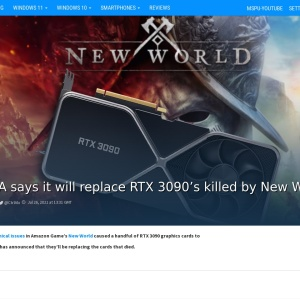 EVGA says it will replace RTX 3090's killed by New World - MSPoweruser