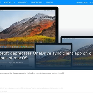 Microsoft deprecates OneDrive sync client app on older versions of macOS - MSPoweruser