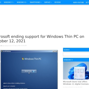 Microsoft ending support for Windows Thin PC on October 12, 2021 - MSPoweruser