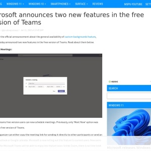 Microsoft announces two new features in the free version of Teams - MSPoweruser