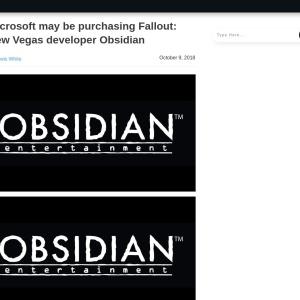 Microsoft may be purchasing Fallout: New Vegas developer Obsidian - MSPoweruser