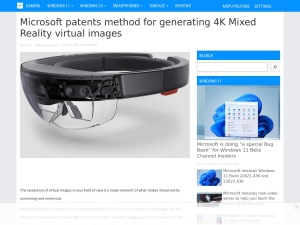Microsoft patents method for generating 4K Mixed Reality virtual images - MSPoweruser