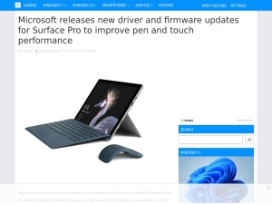 Microsoft releases new driver and firmware updates for Surface Pro to improve pen and touch performance - MSPoweruser