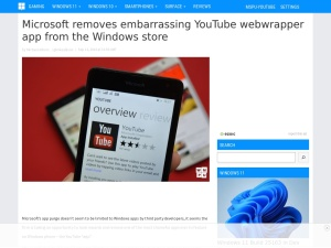 Microsoft removes embarrassing YouTube webwrapper app from the Windows store - MSPoweruser