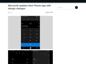 Microsoft updates their Phone app with design changes - MSPoweruser