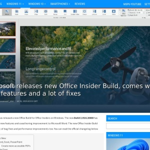 Microsoft releases new Office Insider Build, comes with new features and a lot of fixes - MSPoweruser