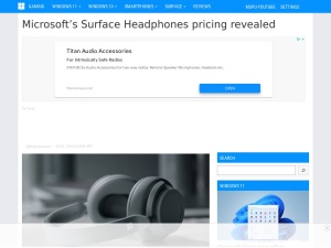 Microsoft's Surface Headphones pricing revealed - MSPoweruser