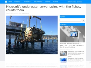 Microsoft's underwater server swims with the fishes, counts them - MSPoweruser