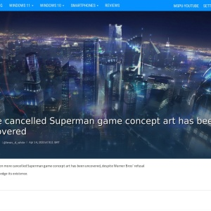 More cancelled Superman game concept art has been uncovered - MSPoweruser