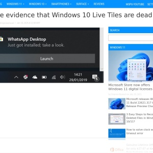 More evidence that Windows 10 Live Tiles are dead - MSPoweruser