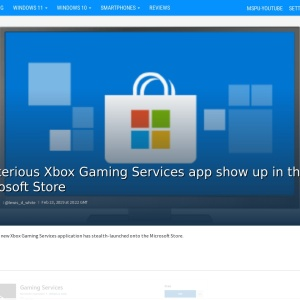 Mysterious Xbox Gaming Services app show up in the Microsoft Store - MSPoweruser
