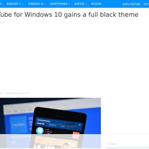 MyTube for Windows 10 gains a full black theme - MSPoweruser