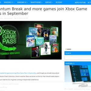 Quantum Break and more games join Xbox Game Pass in September - MSPoweruser