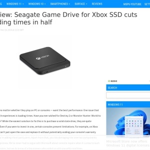 Review: Seagate Game Drive for Xbox SSD cuts loading times in half - MSPoweruser