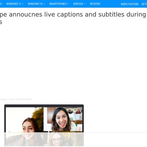 Skype annoucnes live captions and subtitles during calls - MSPoweruser