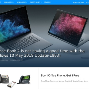Surface Book 2 is not having a good time with the Windows 10 May 2019 Update(1903) - MSPoweruser