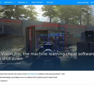 User Vision Pro, the machine learning cheat software, has been shut down - MSPoweruser
