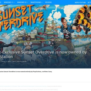 Xbox-Exclusive Sunset Overdrive is now owned by PlayStation - MSPoweruser