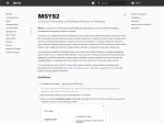 MSYS2 installer