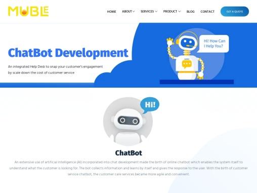 Chatbot Development   Custom Chatbot App Development Company