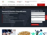 Removal of Directors Disqualification