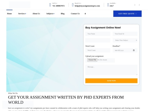 My Assignment Services By Our Experts