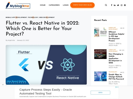 Flutter vs React Native – What to Choose in 2021?