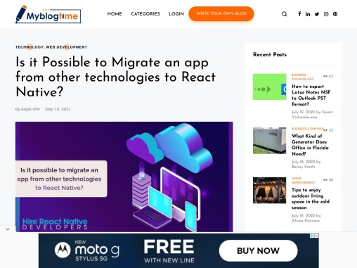 Is it Possible to Migrate an app from other technologies to React Native?