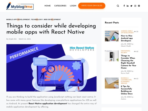 Things to consider while developing mobile apps with React Native