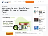 What are the basic Shopify Setup Checklist for your e-Commerce Store?