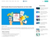 Brief Guide About Income Payments on Form 1099