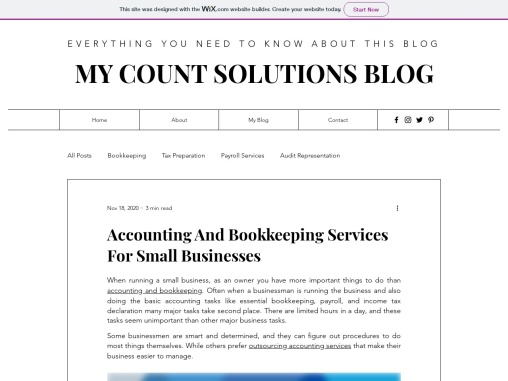 Accounting And Bookkeeping Services For Small Businesses
