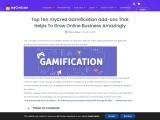 Top Ten myCred Gamification add-ons That Helps To Grow Online Business Amazingly