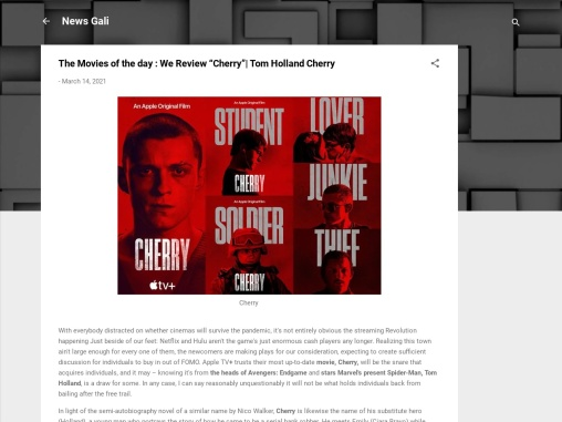"""The Movies of the day : We Review """"Cherry""""