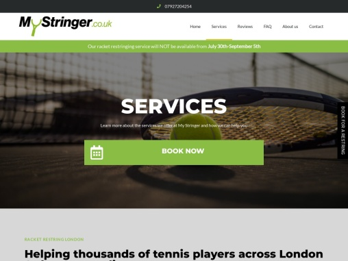 Qualified and Trusted Racket Restringing Services