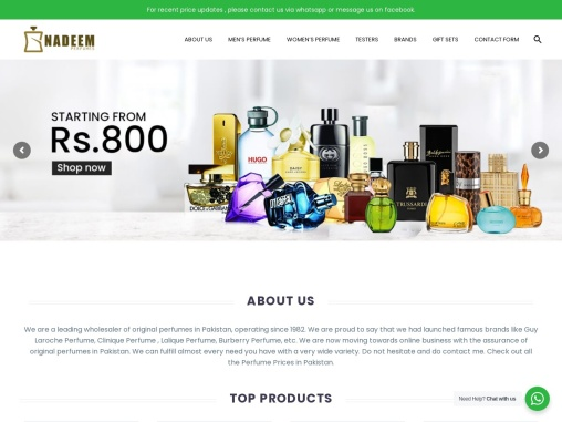 Perfume Price in Pakistan | Buy Original Perfumes | NadPerfumes