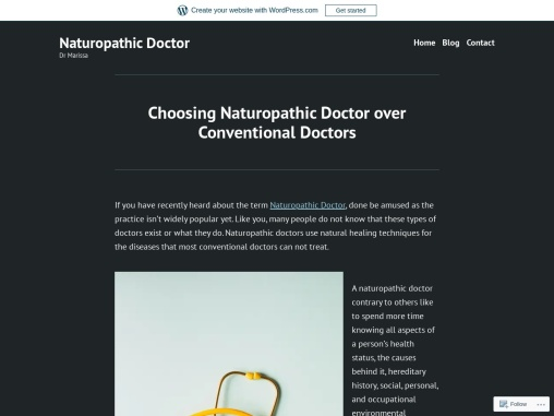 Naturopathic Doctor and their Practices