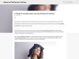 Importnat Things To Consider While Buying Perfume Online